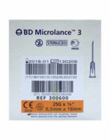 BD MICROLANCE 3, G25 5/8, 0,5 mm x 16 mm, orange  à TOULOUSE