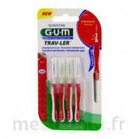 GUM TRAV - LER, 0,8 mm, manche rouge , blister 4 à TOULOUSE
