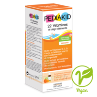Pédiakid 22 Vitamines et Oligo-Eléments Sirop abricot orange 125ml à TOULOUSE