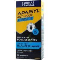 Apaisyl Anti-poux Xpress 15' Lotion antipoux et lente 200ml+peigne à TOULOUSE