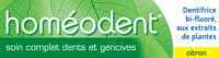 Boiron Homéodent Soin Complet Dents et Gencives Pâte Dentifrice Citron 2T/75ml à TOULOUSE
