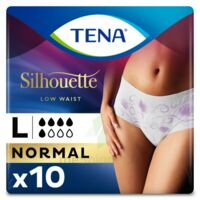 Tena Lady Silhouette Slip Absorbant Blanc Normal Large Paquet/10 à TOULOUSE